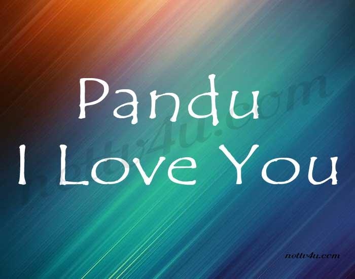 Pandu I love you