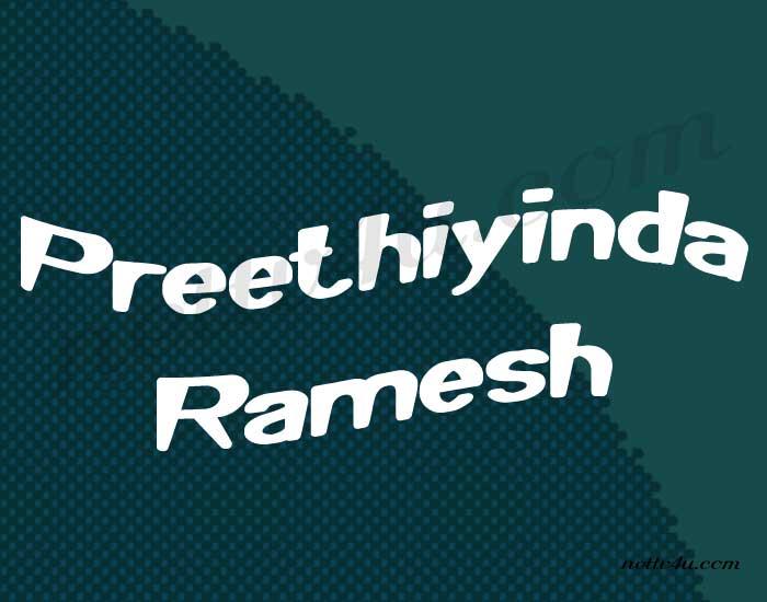 Preethiyinda Ramesh