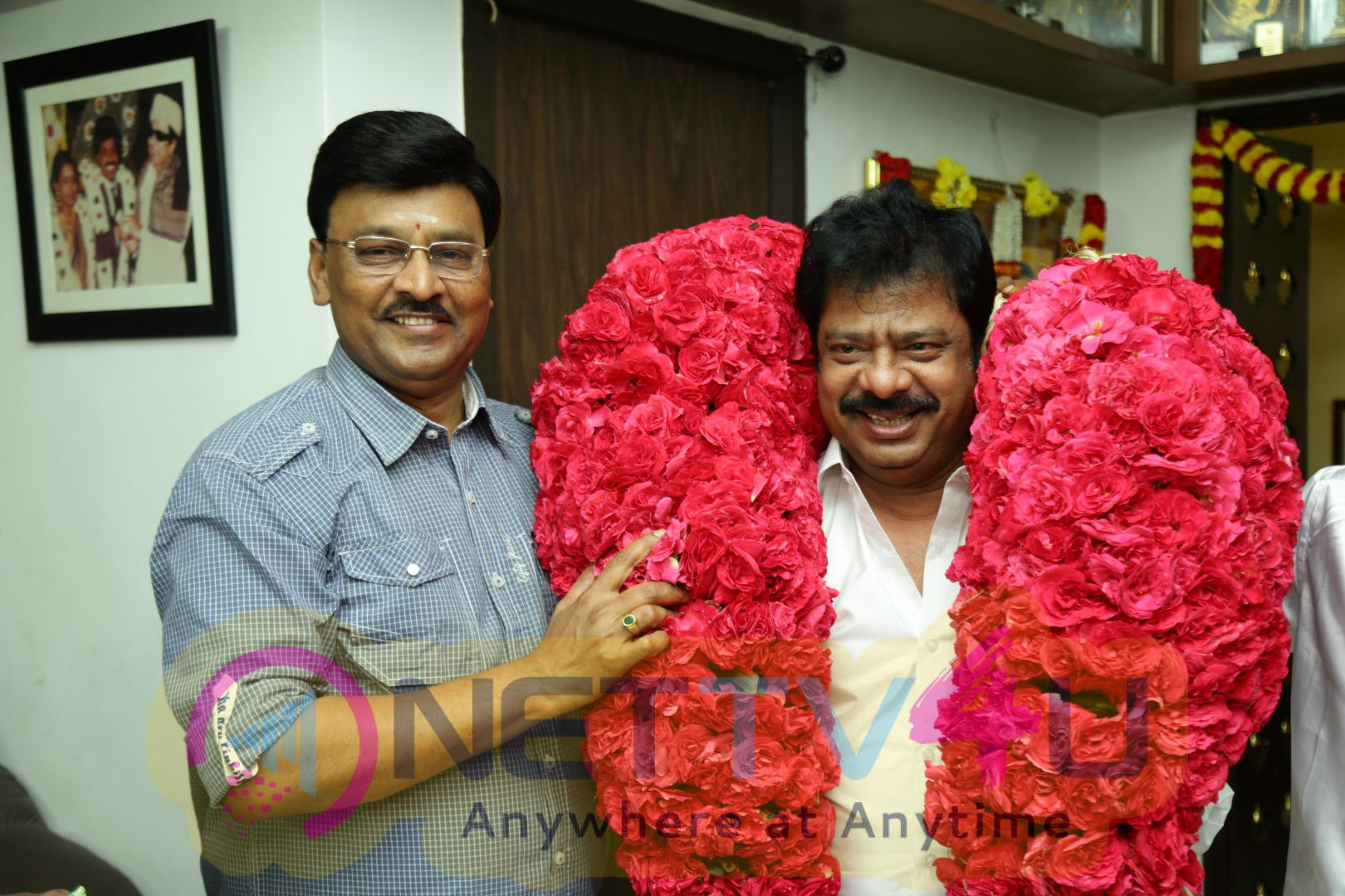 Actor & Director R Pandiarajan Sir Birthday Celebration With His Guru Bhagyaraj Sir Pics