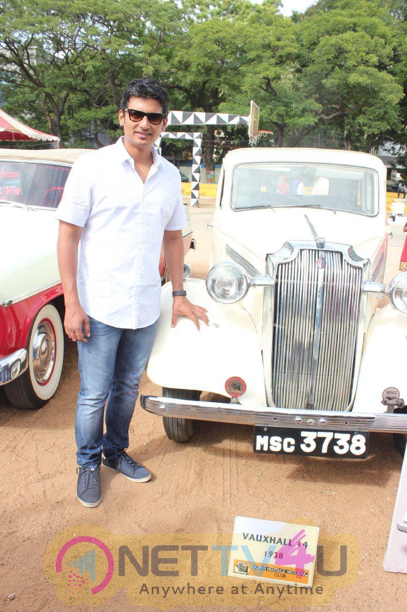 Actor Jiiva Car Rally Good Looking Photos