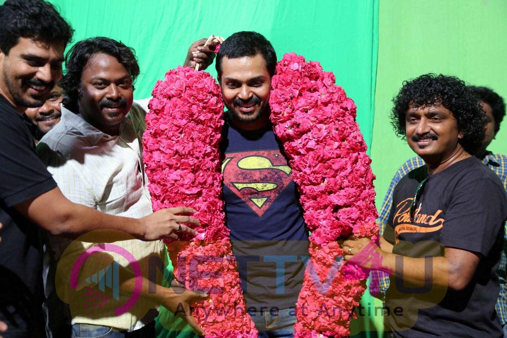 Actor Karthi Birthday Celebration At Kashmora Shooting Spot Excellent Stills