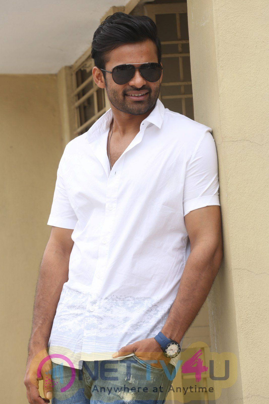 Actor Sai Dharam Tej Thikka Movie Interview Beautiful Stills Telugu Gallery