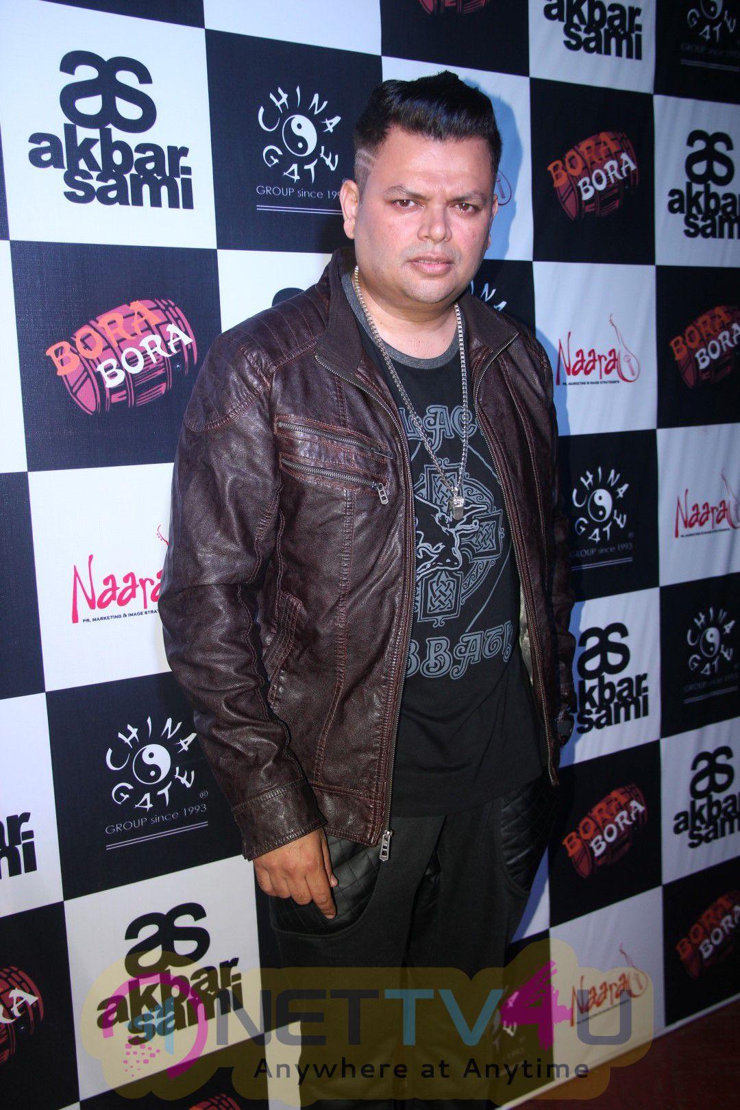 Actor Salil Ankola & Singer Shibani Kashyap At Akbar Sami Party Event Classic Photos Hindi Gallery