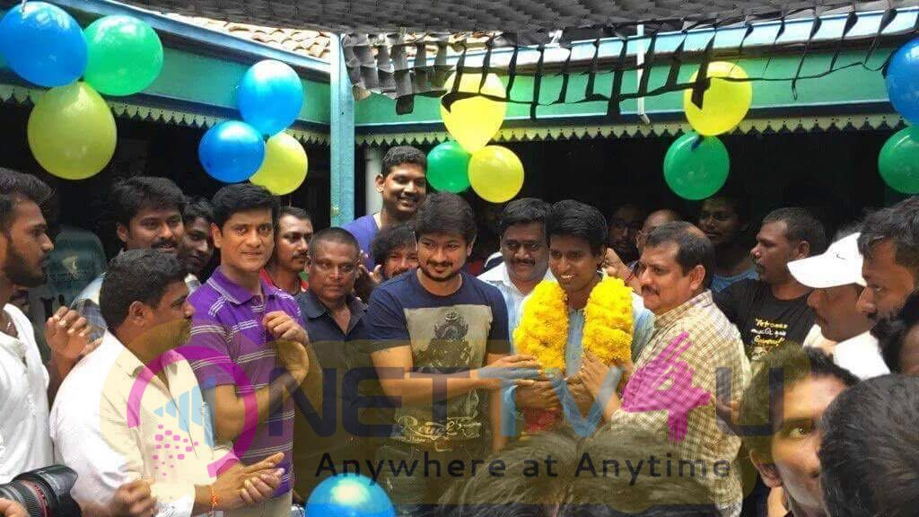 Actor Soori Celebrates His Birthday In The Sets Of Udhayanidhi Stalin's Next Project Emotional Photos