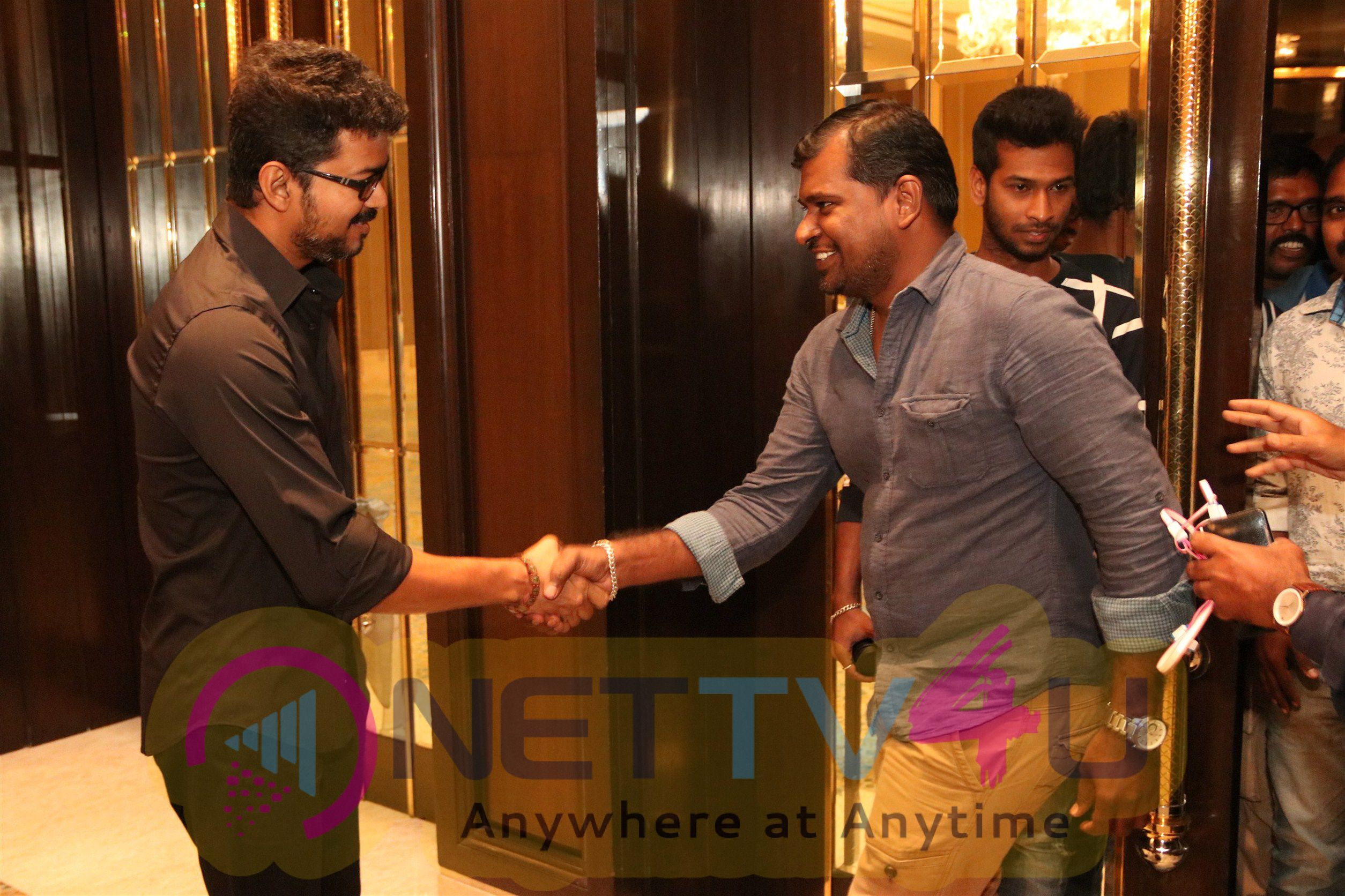 Actor Vijay Meets Pressmedia People Stills