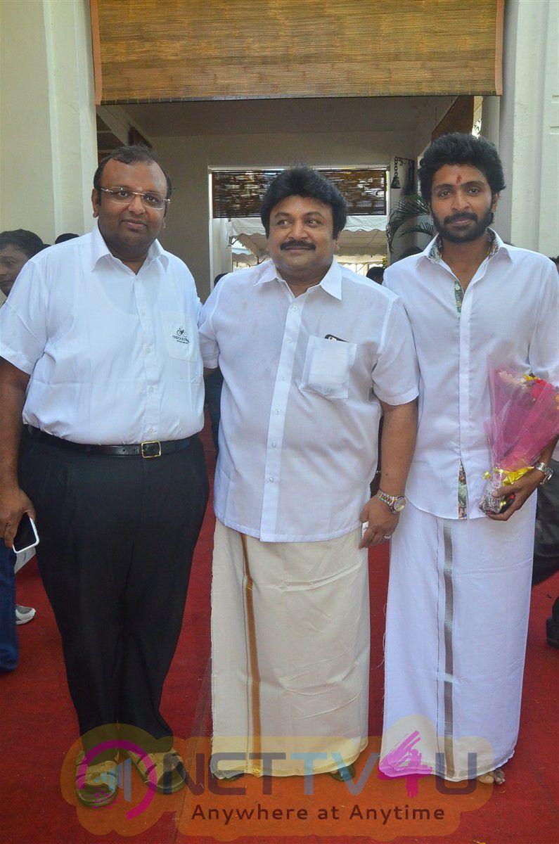 Actor Vikram Prabhu Movie Launch Exclusive Photos