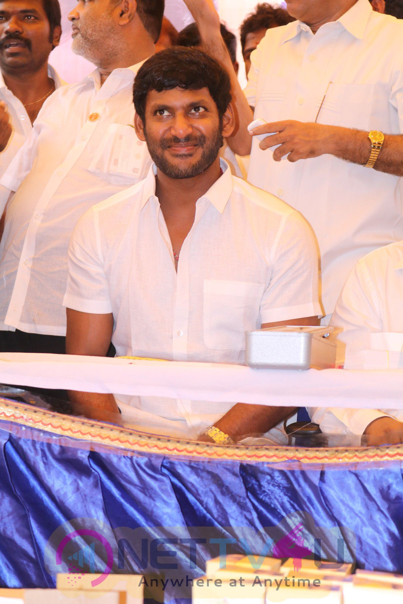 Actor Vishal Birthday Celebration Stills And MPS Poly Clinic Operates In Partnership With A Mixture Of Special Medical Camp Set Up By Vishal