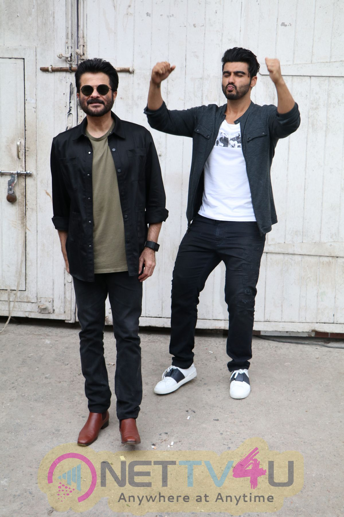 Actors Anil Kapoor And Arjun Kapoor On The Sets Of Show Vogue BFFs Stills