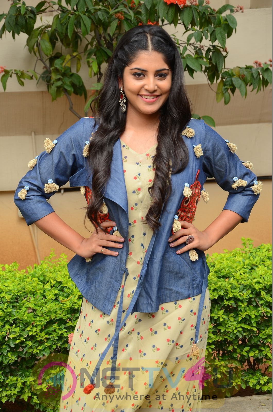 Actress Manjima Mohan Lovely Images At Saahasam Swaasaga Saagipo Movie Release Press Meet