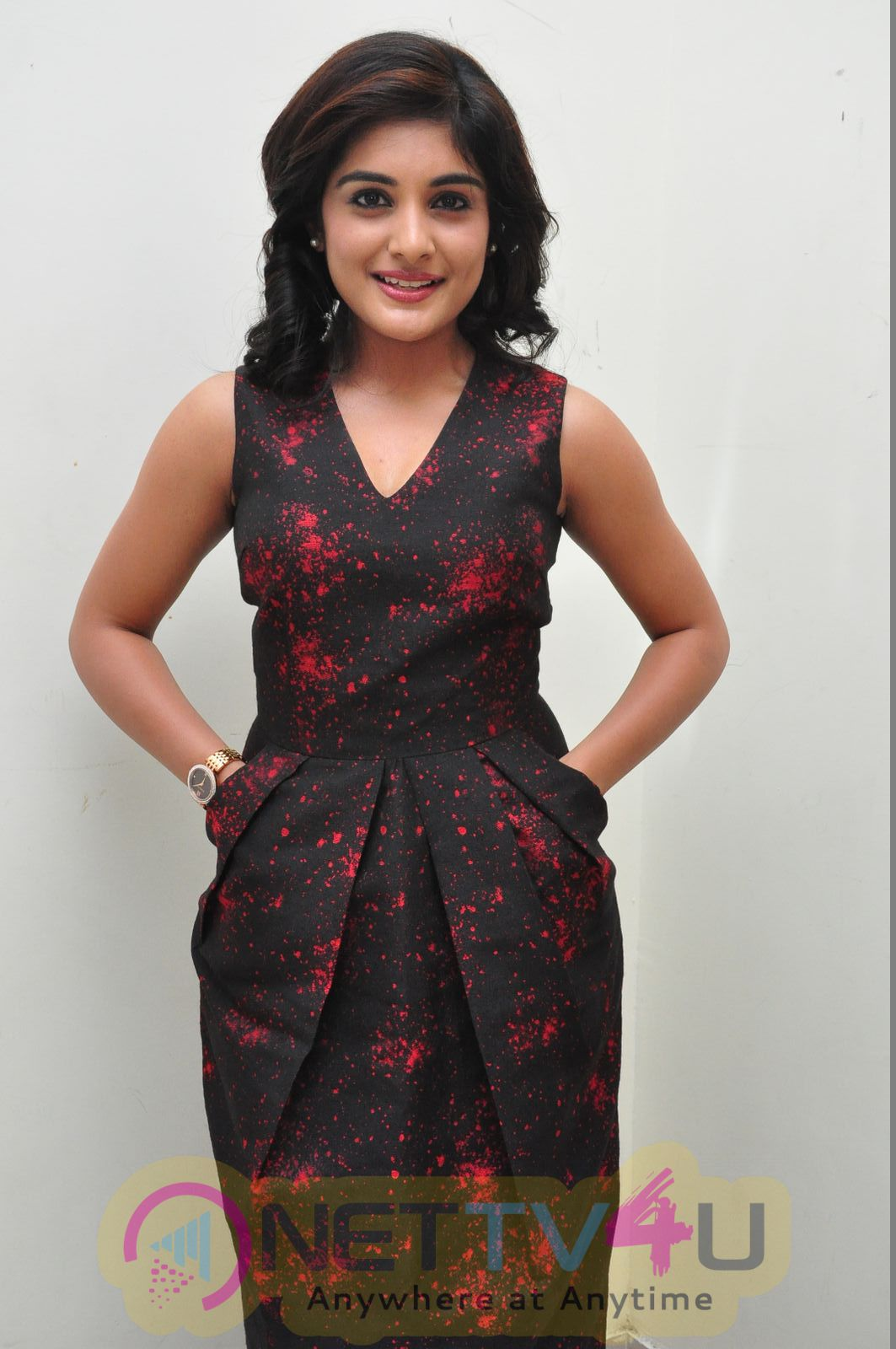 Actress Niveda Thomas Attractive Stills At Gentelman Audio Launch  Telugu Gallery
