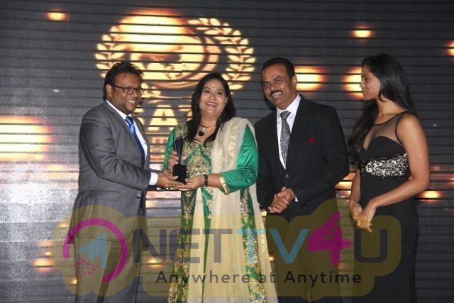 Actress Radha Uday Samudra Leisure Beach Hotel & Spa Bagged The Best Beach Hotel Award In 2016 South Asian Travel Awards