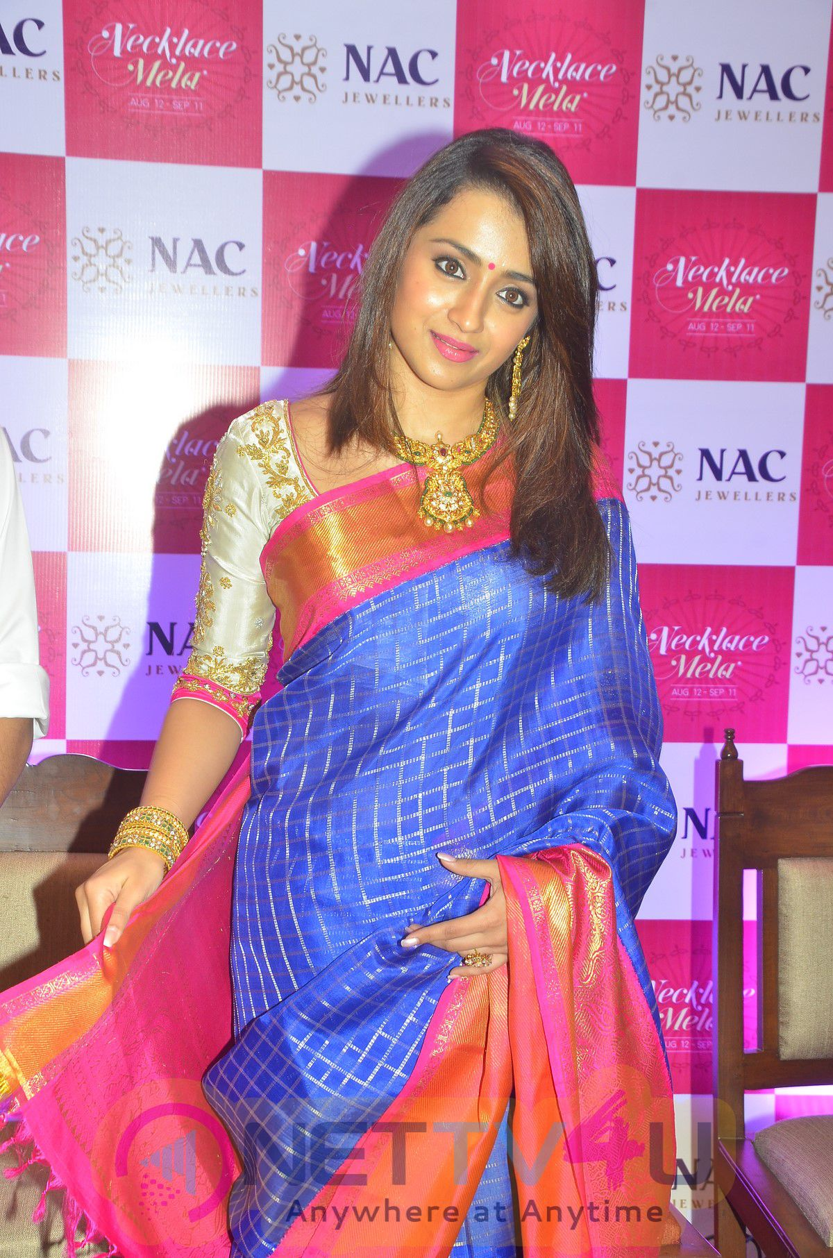 Actress Trisha Launches NAC Jewellers At Kanchipuram Stills