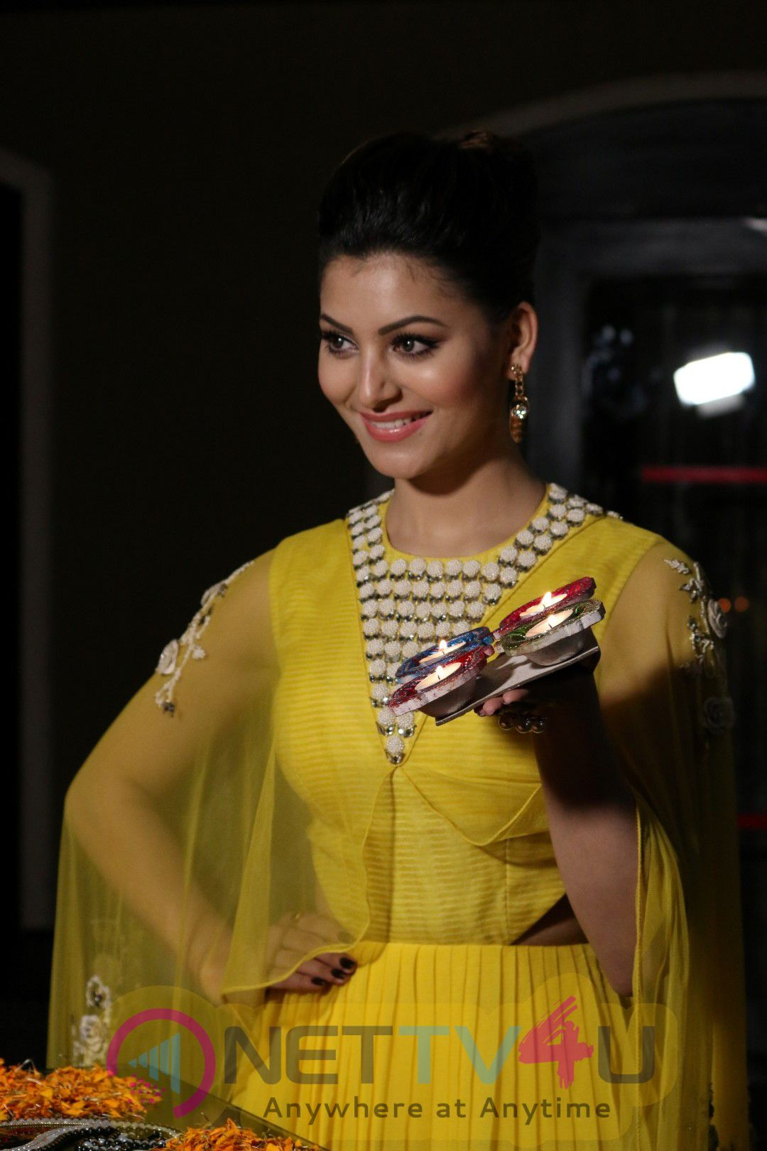 Actress Urvashi Rautela Celebrate Diwali & Interact With Media Photos