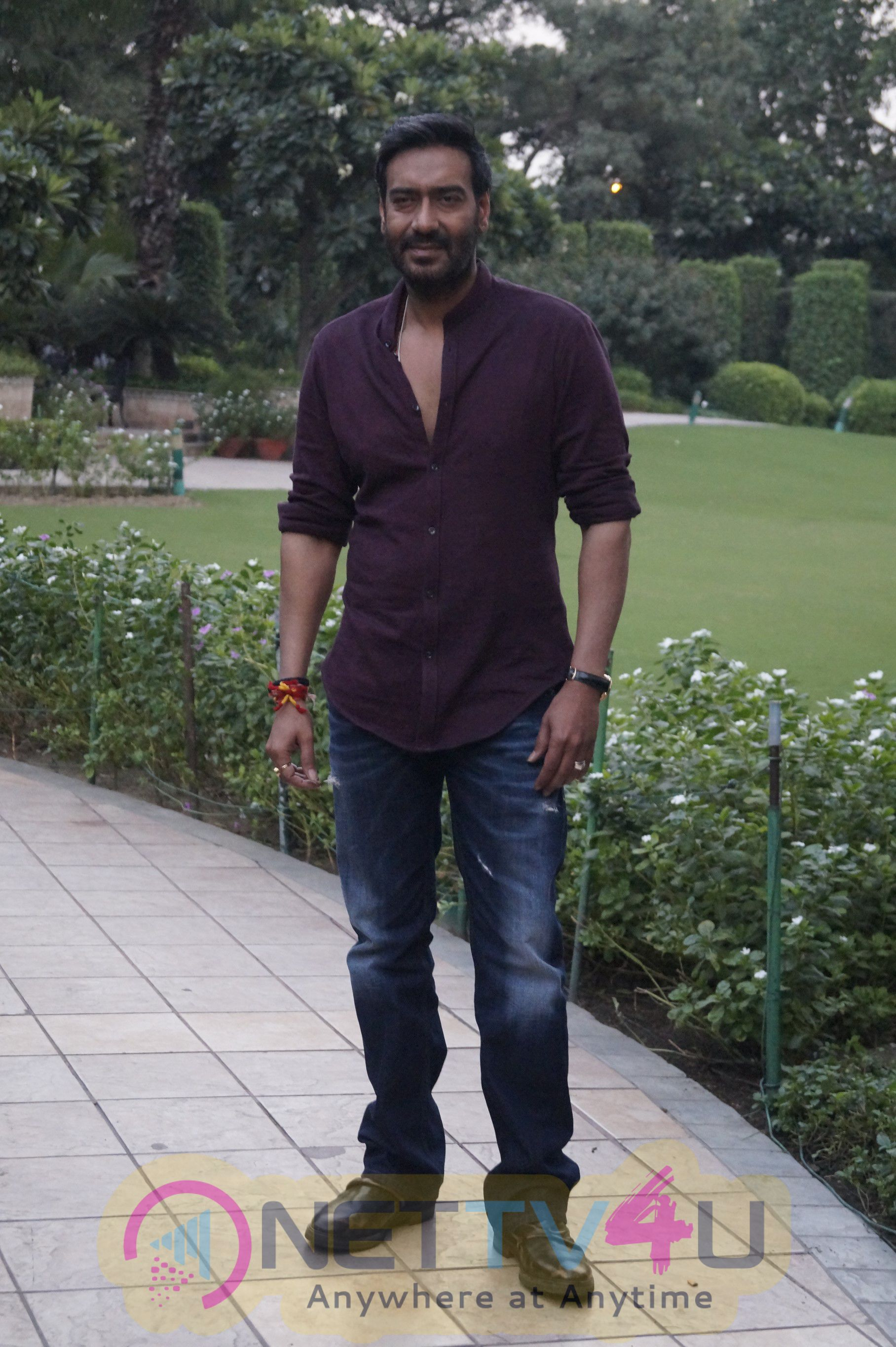 Ajay Devgn In Shivaay Movie Team Visit In Delhi