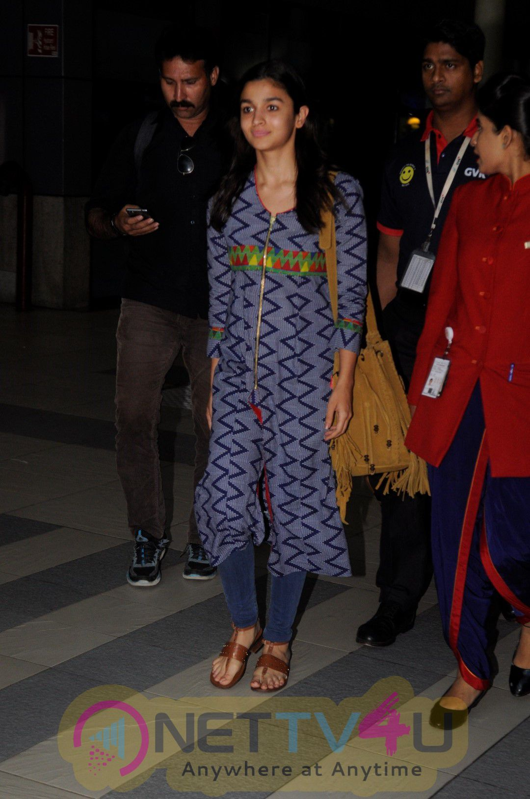Alia Bhatt & Sanjay Khan Spotted At Airport Stills