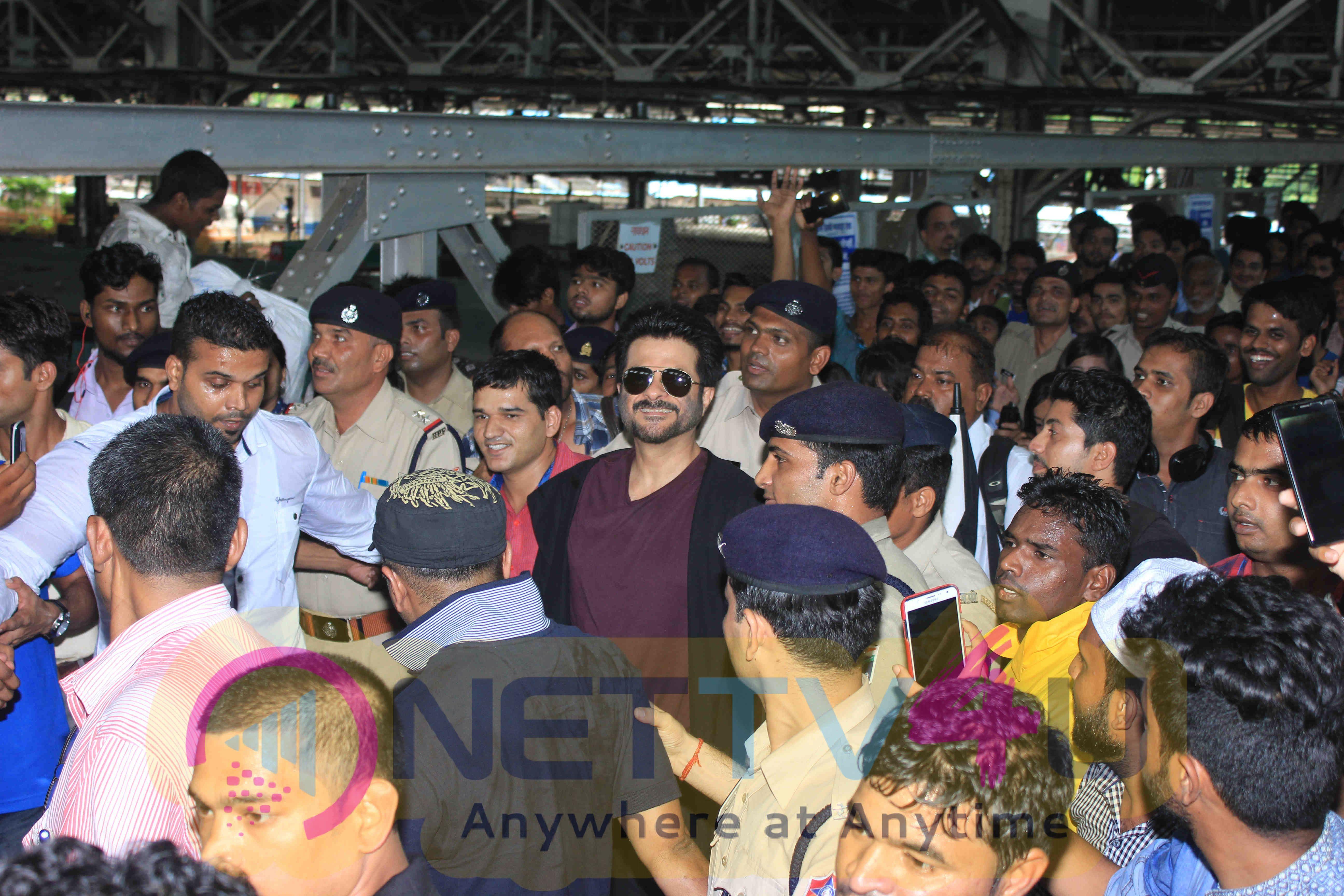 Anil Kapoor At Promotes His TV Show 24 Season 2 At Mumbai Central Station Attractive Stills