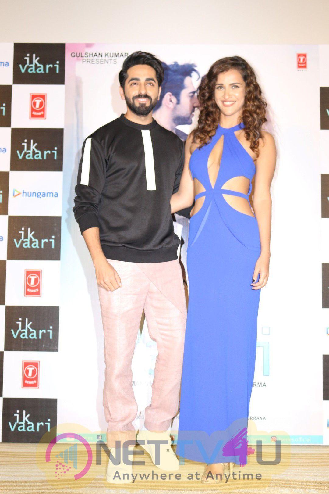 Ayushmann Khurrana & Aisha Sharma At Launch Of Our Next T Series Single Ik Vaari Photos Hindi Gallery
