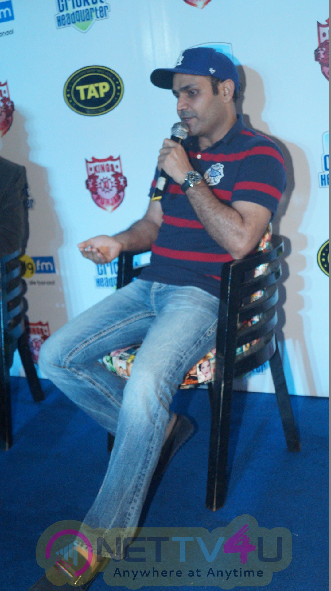 Ace Cricketer Virender Sehwag Gets Press Meet Attractive Photos