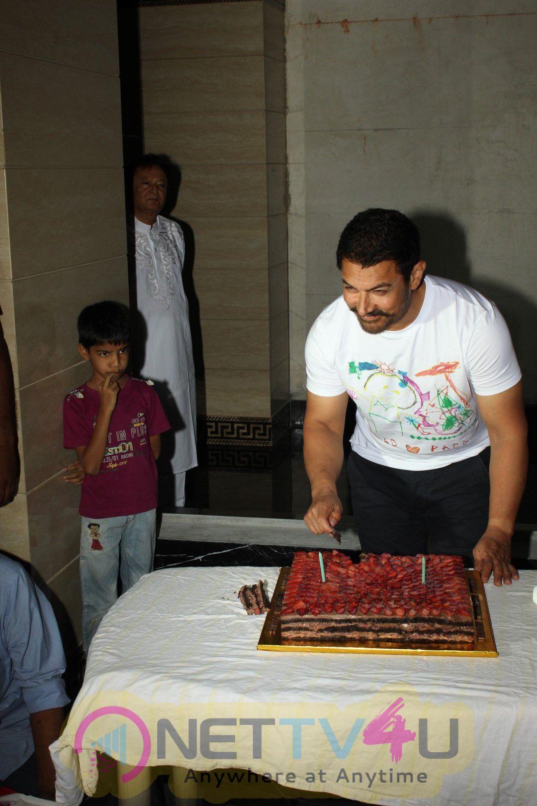 Actor Aamir Khan Celebrates 51st Birthday Photos & Stills Hindi Gallery