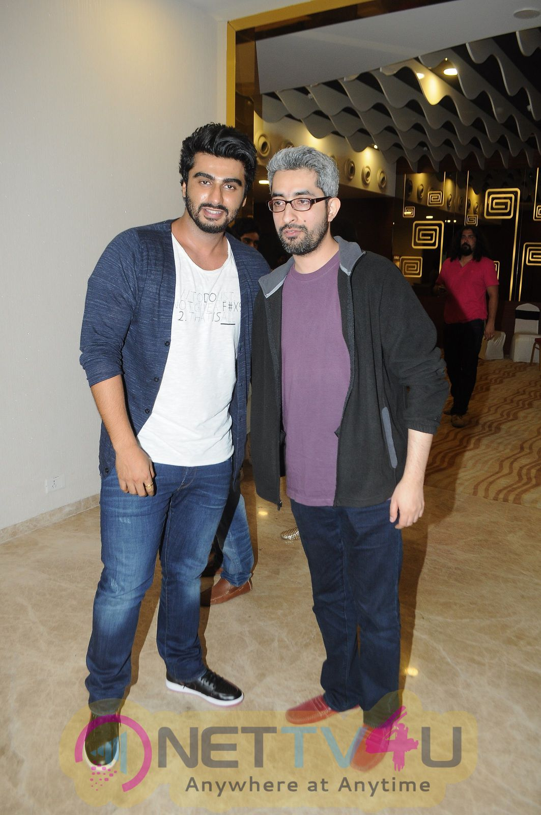 Actor Arjun Kapoor During Screening Of Film Tere Bin Laden Dead Stills