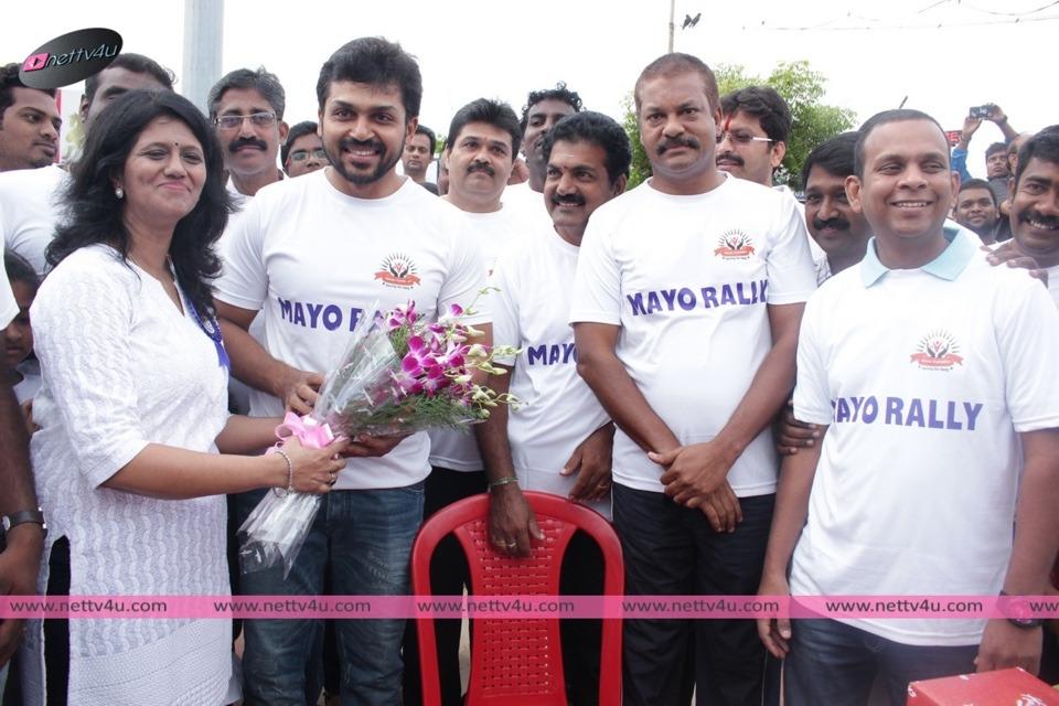 Actor Karthik Sivakumar At Mayo Rally, Chennai