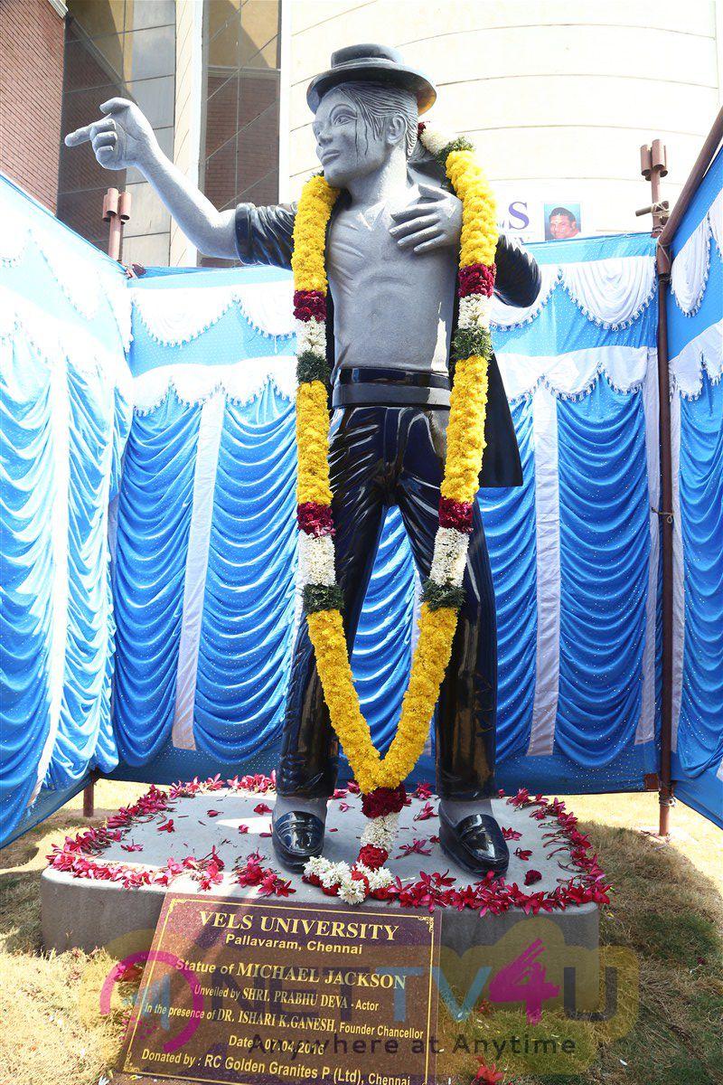 Actor Prabhu Deva Inaugurates Michael Jacksons Granite Statue Stills
