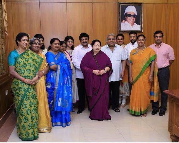 "Actor Prabhu Meets ""Tamil Nadu C.M."" As A Token Of Gratitude!"