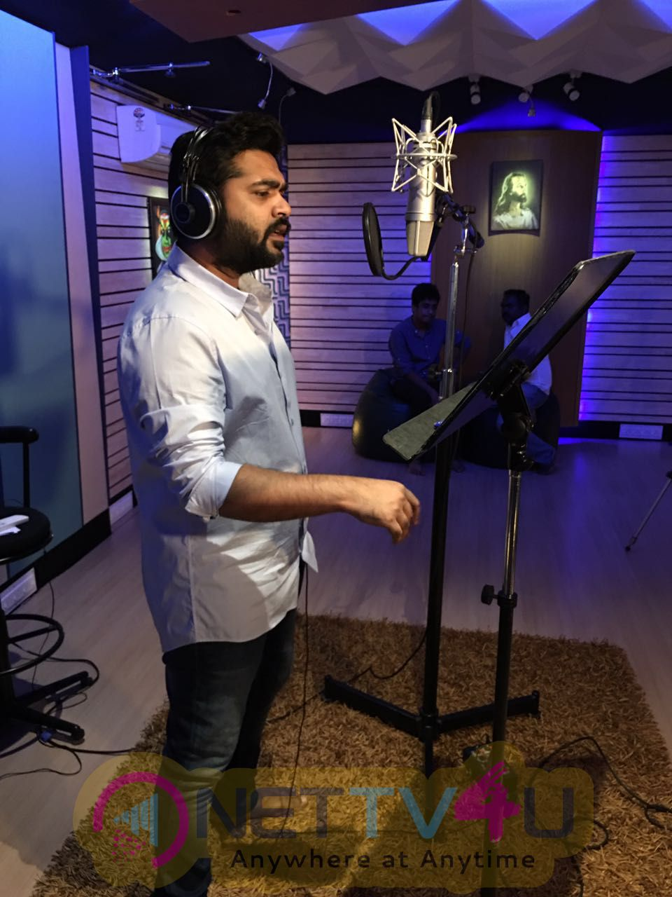 Actor Simbu Sings For Veera Sivaji Movie Lovely Photos Tamil Gallery