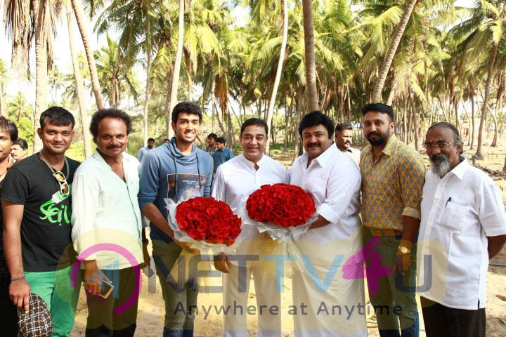 Actor Ulagnagan Dr.Kamal Hassans Special Appearance Movie In Meenkuzhambbum Manpannayum