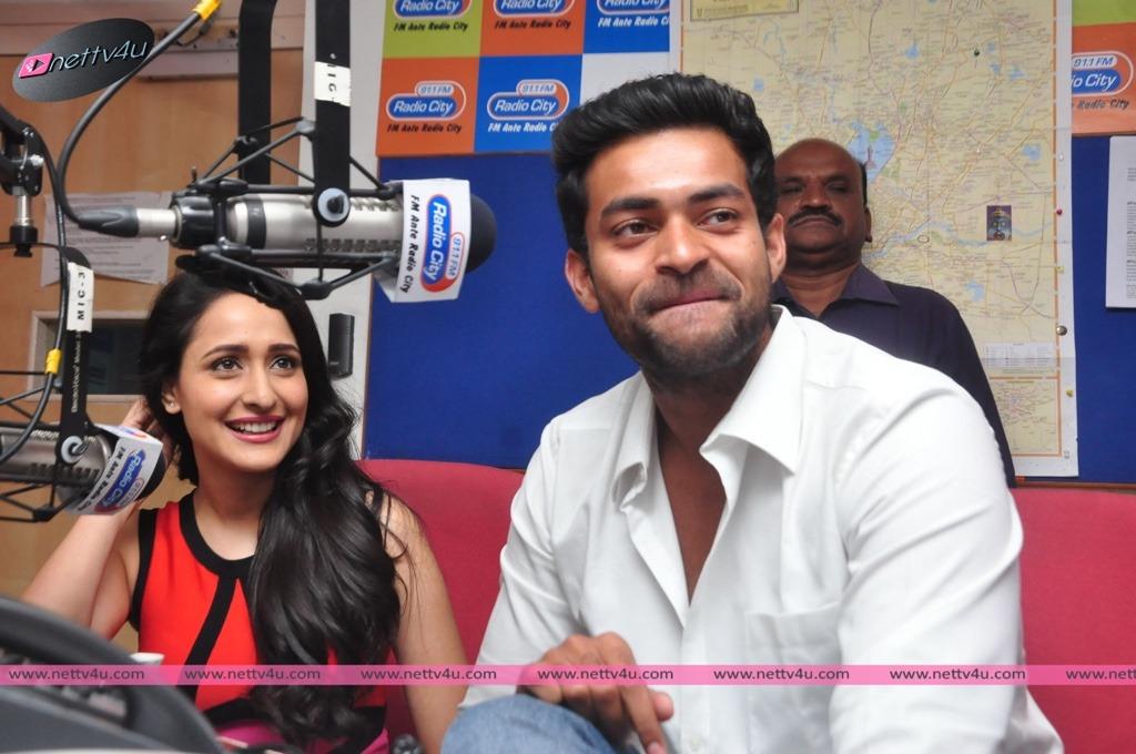 Actor Varun Tej And Actress Pragya Jaiswal At Radio City Station For Kanche Movie