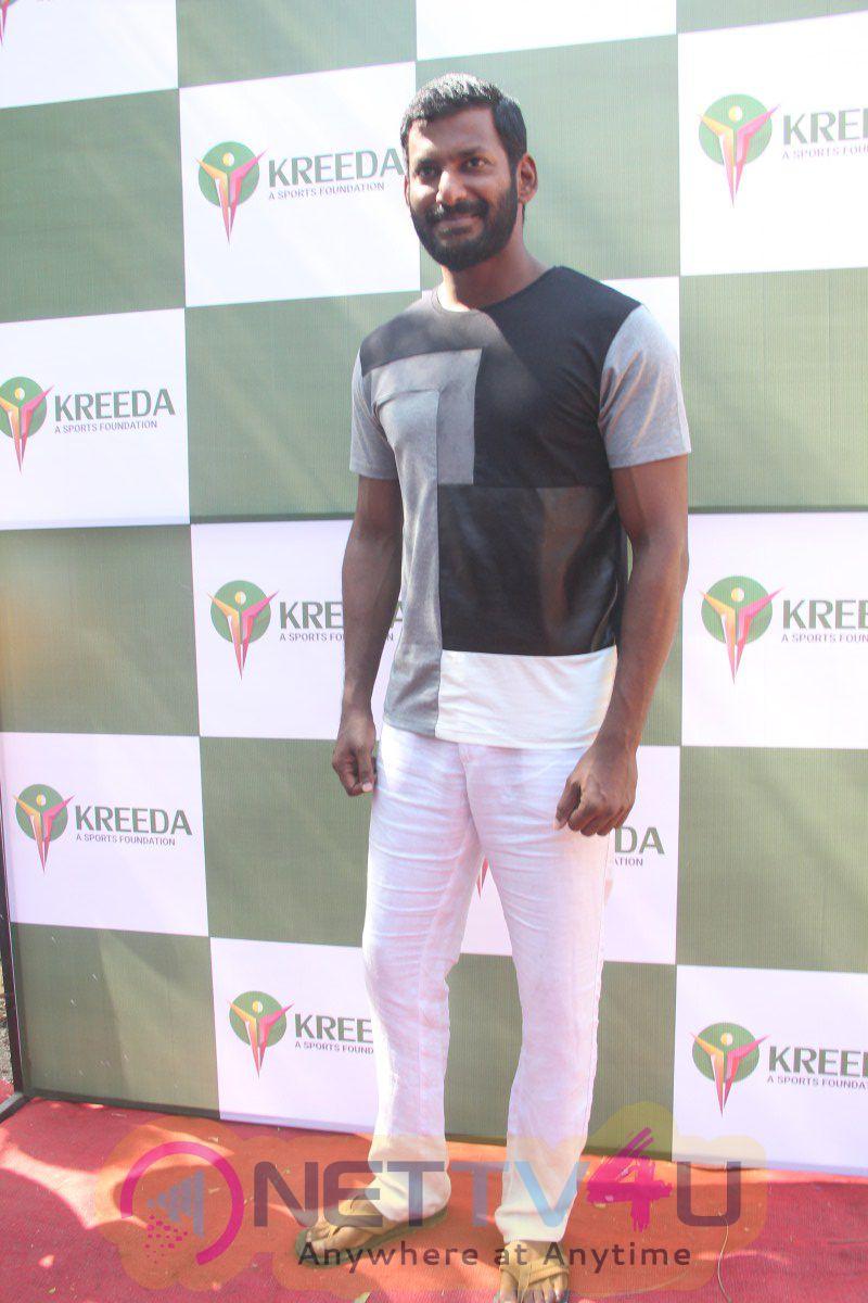 Actor Vishal & Murali Vijay Launch Of Kreeda A Sports Foundation Photos