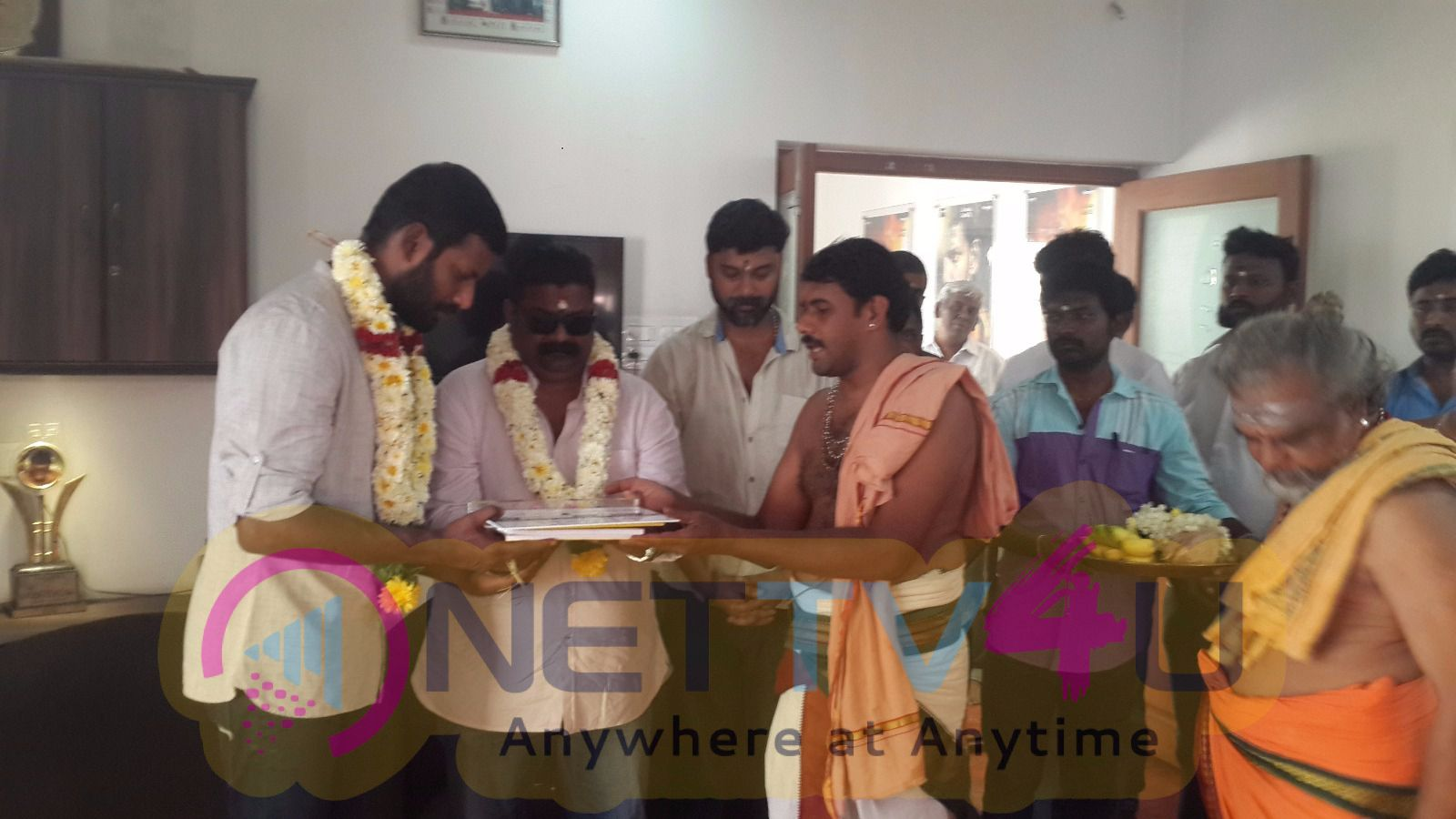 Actor Vishals Next Directed By Director Myskkin Started With A Formal Pooja Today Produced By Vishal Film Factory Stills