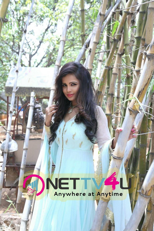 Actress Hashika Dutt In Light Sky Blue Dress Photo Gallery