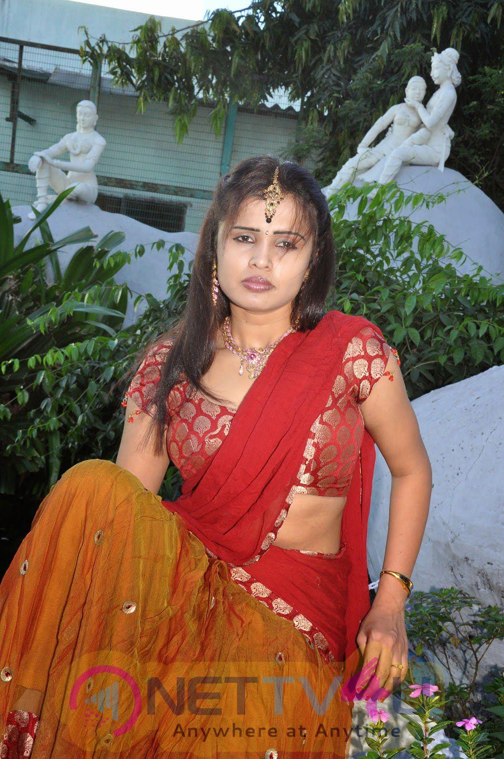Actress Radhe Krishna Latest Half Saree Stills