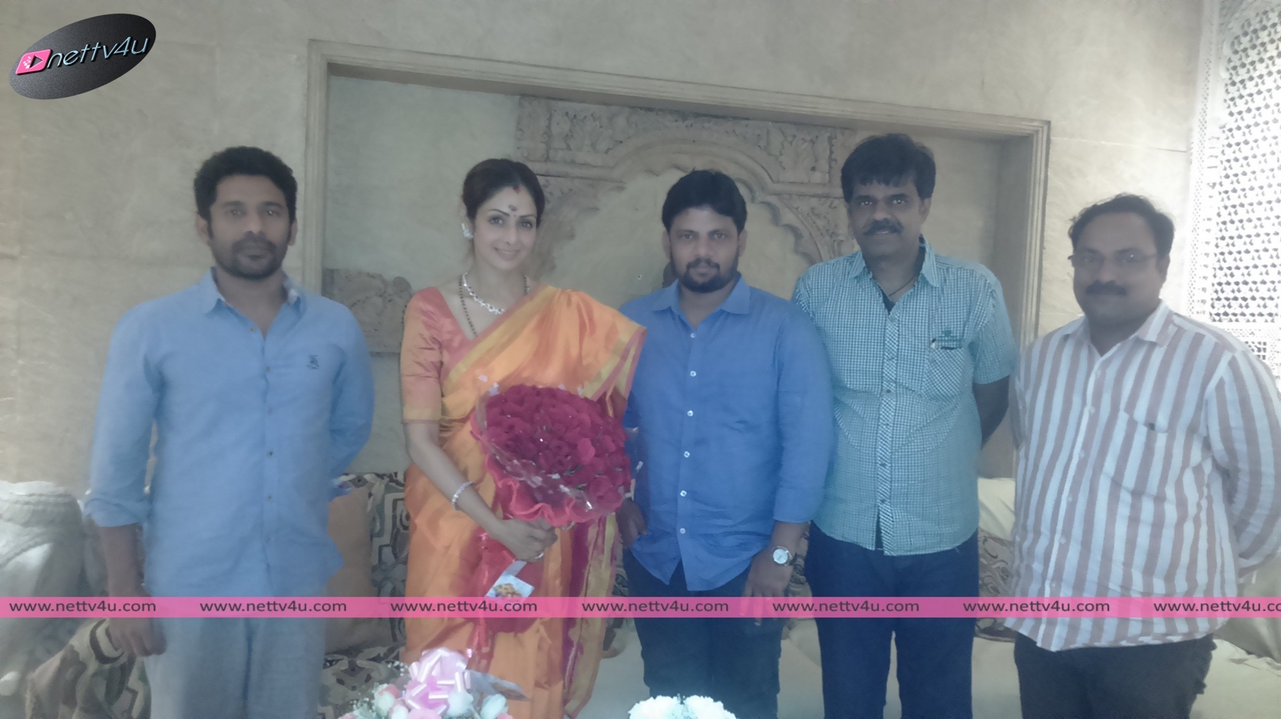 Actress Sri Devi Birthday - Wishes By Director Simbu Thevan And His Movie Puli Team Members