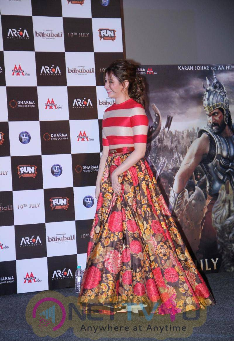 Actress Tamanna At Baahubali Movie Trailer Launch Stills