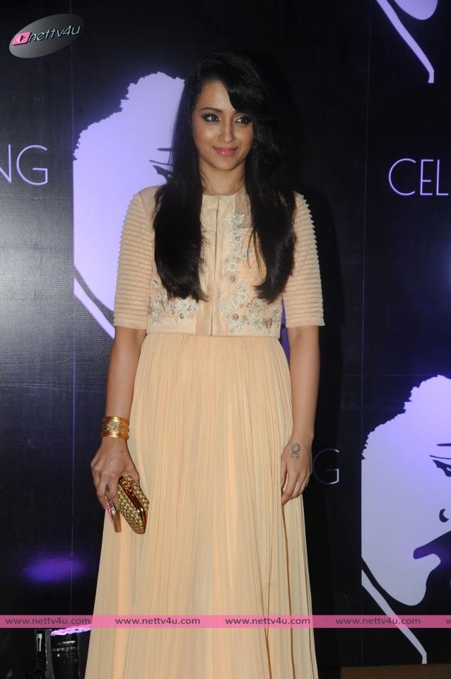 Actress Trisha At Mega Star Chiranjeevi 60th Birthday Celebration
