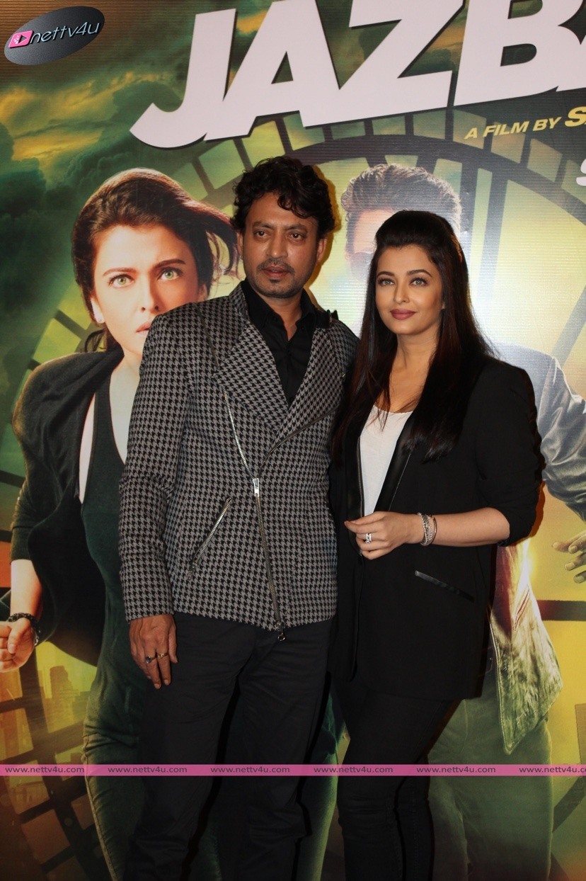 Aishwarya Rai And Irrfankhan Jazbaa Movie Press Meet Stills