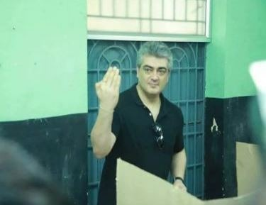 Ajith Cast His Vote In Assembly Elections!