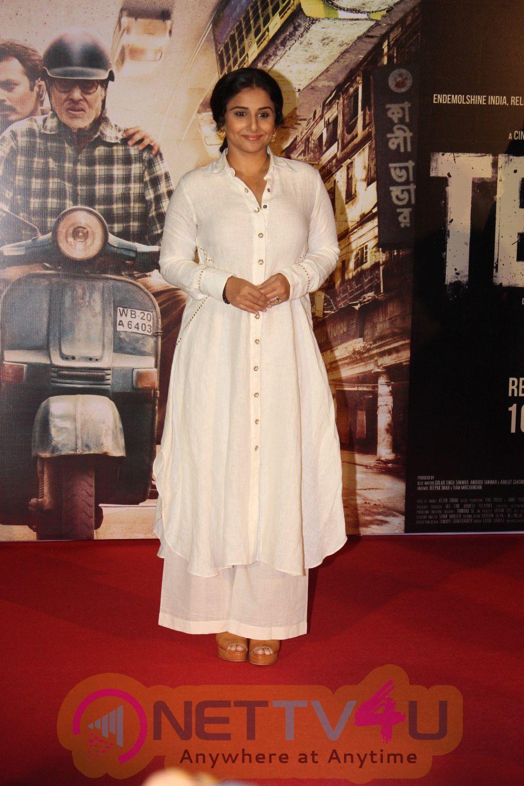 Amitabh Bachchan And Vidya Balan Unveil TE3N Trailer Release Photos