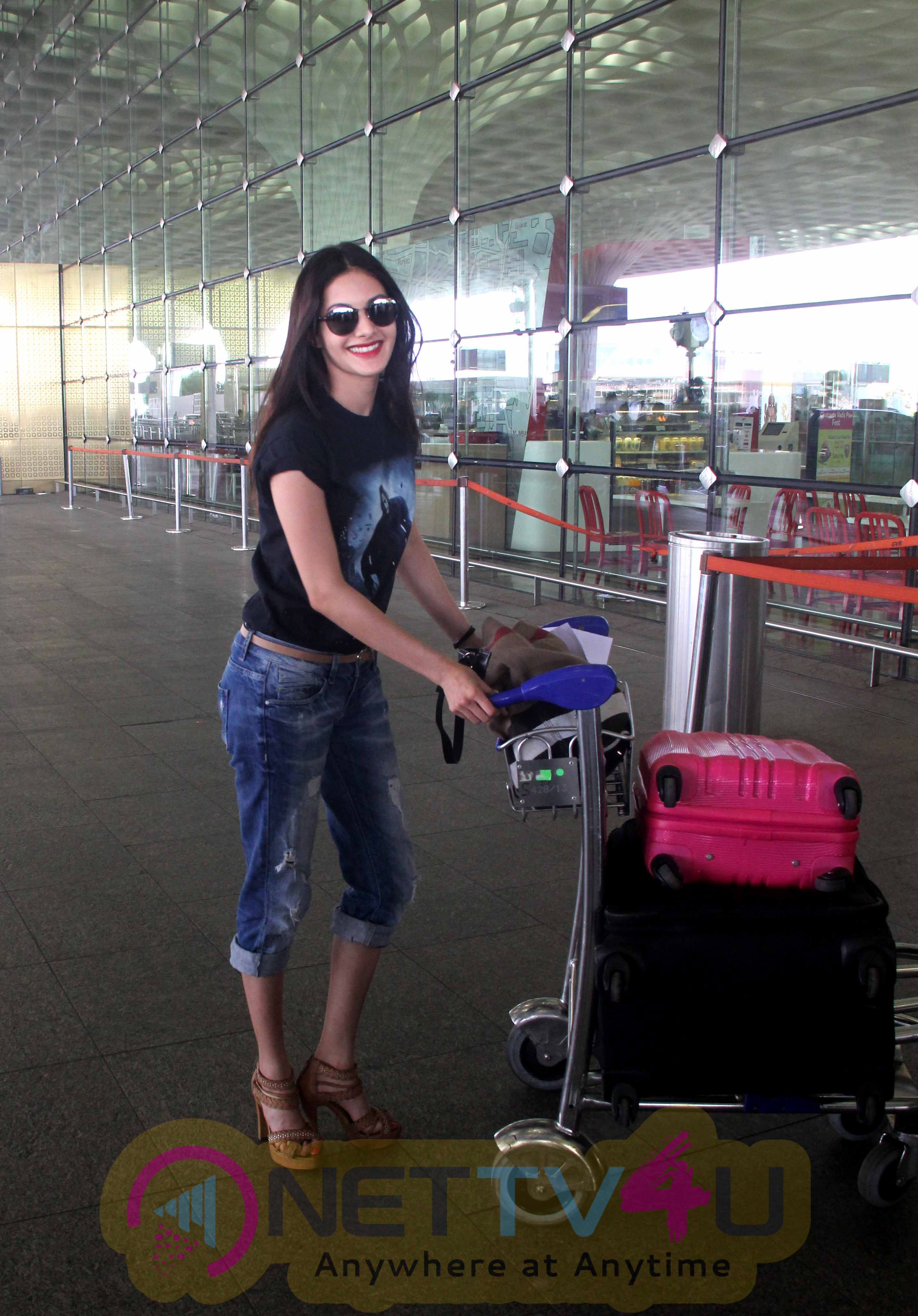 Amyra Dastur Leaves For Rajasthan To Shoot For Kung Fu Yoga Hindi Gallery