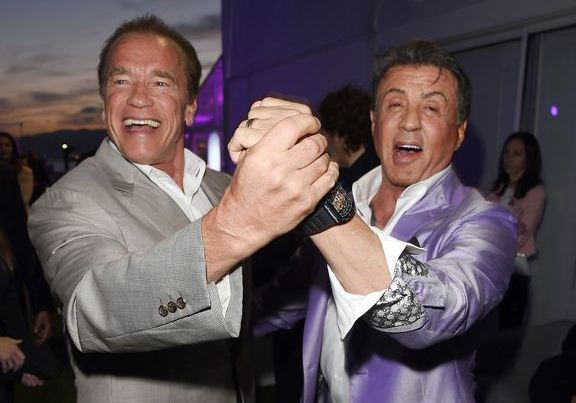 Arnold Consoles His Friend Sylvester Stallone! ..
