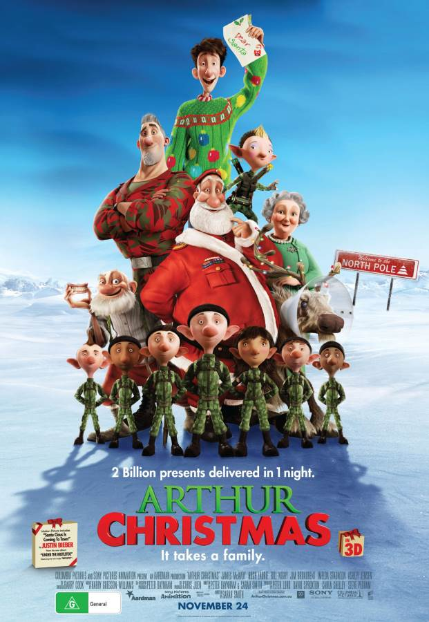 Arthur Christmas Movie Review English