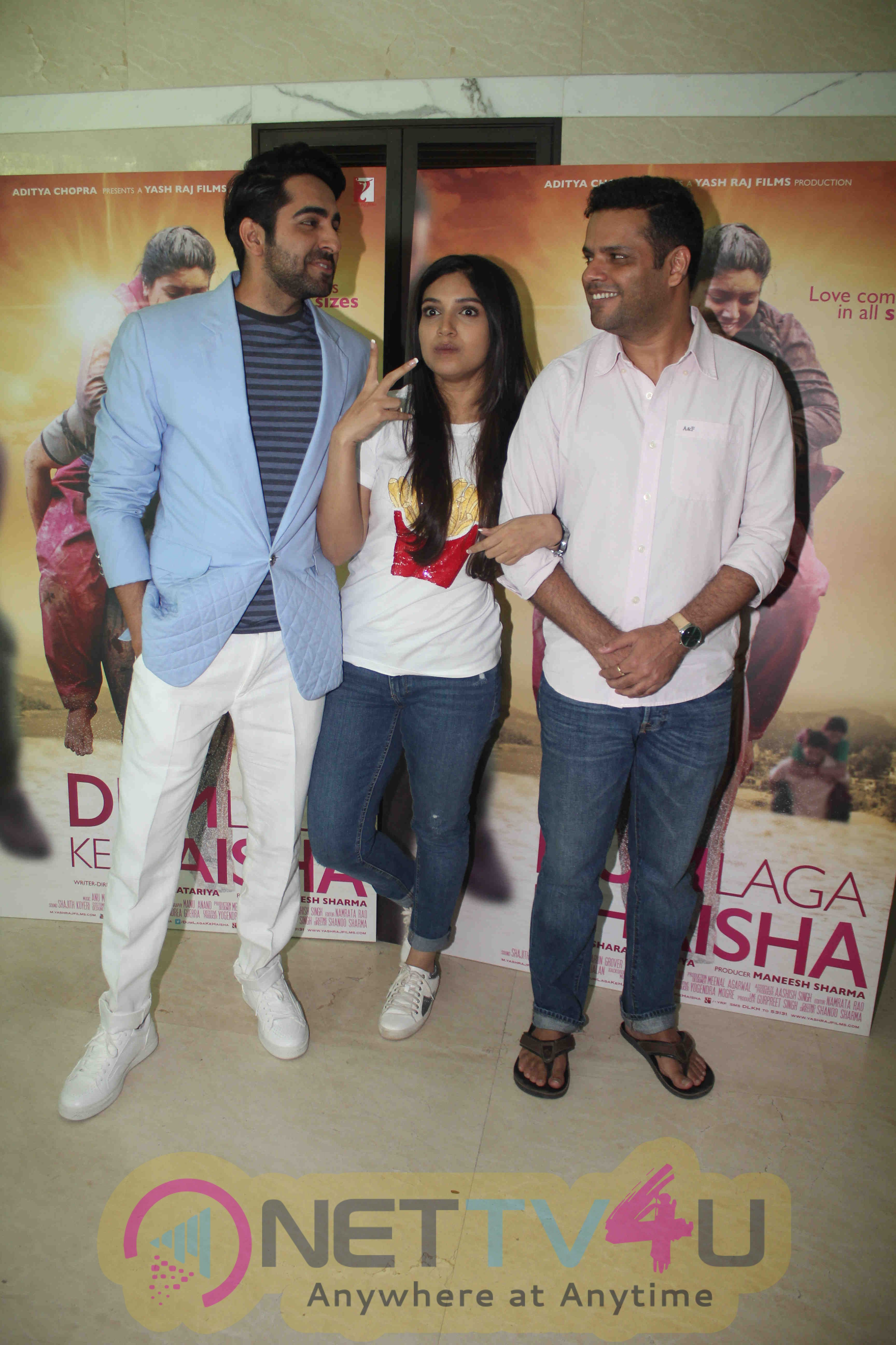 Ayushmann And Bhumi Pednekar At Dum Laga Ke Haisha National Award Win Celebration Exclusive Photos Hindi Gallery