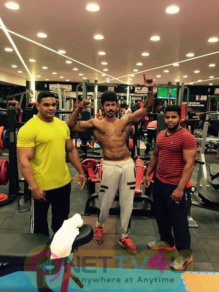 B.Rishikanth Actor Hero Of The Movie Kattupura Achieved Mr. Fitness Tamilnadu 2016 Title Winner   Stills