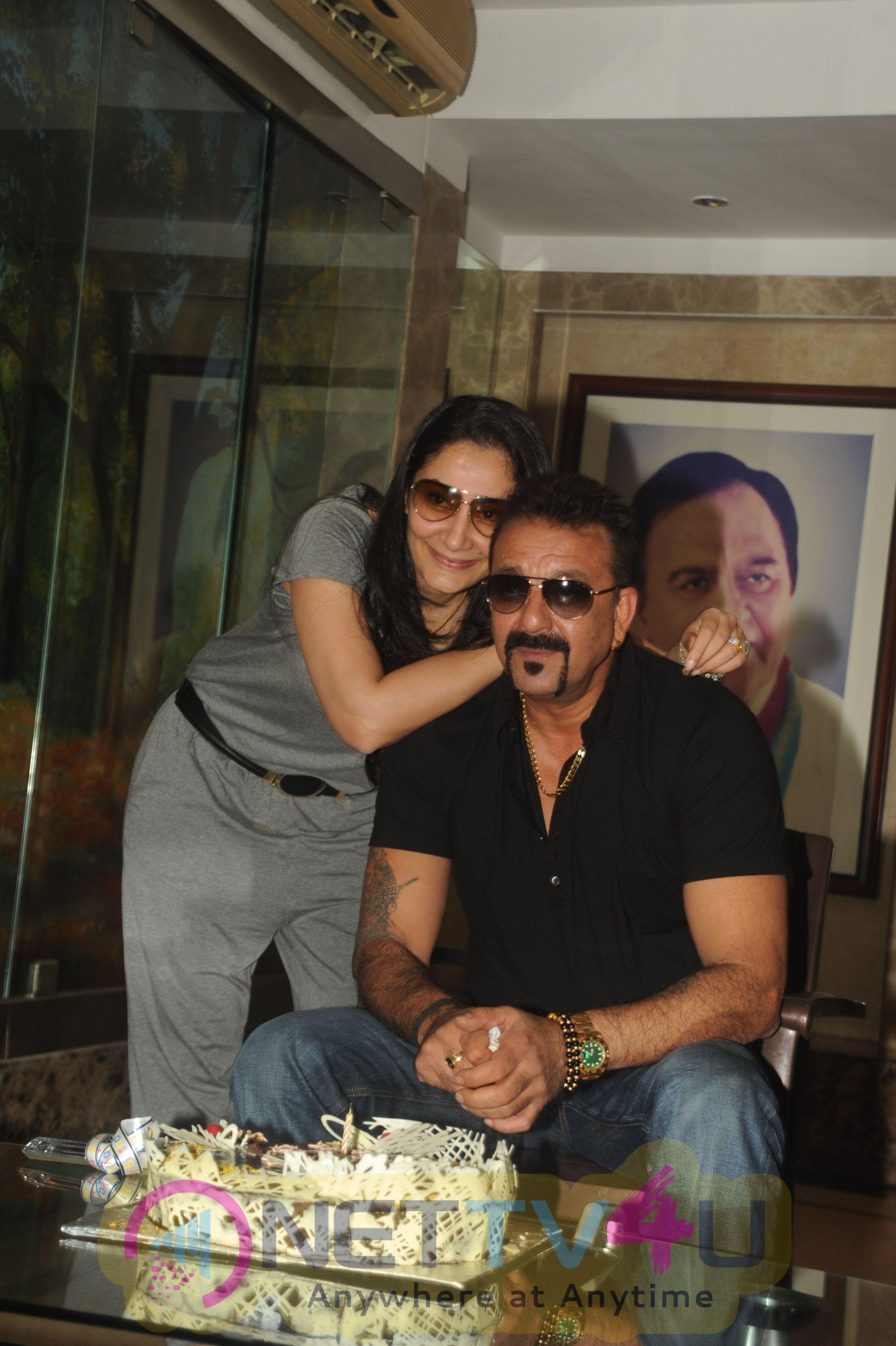 Bollywood Actor Sanjay Dutt Birthday  Celebrated Beautiful Photos Hindi Gallery