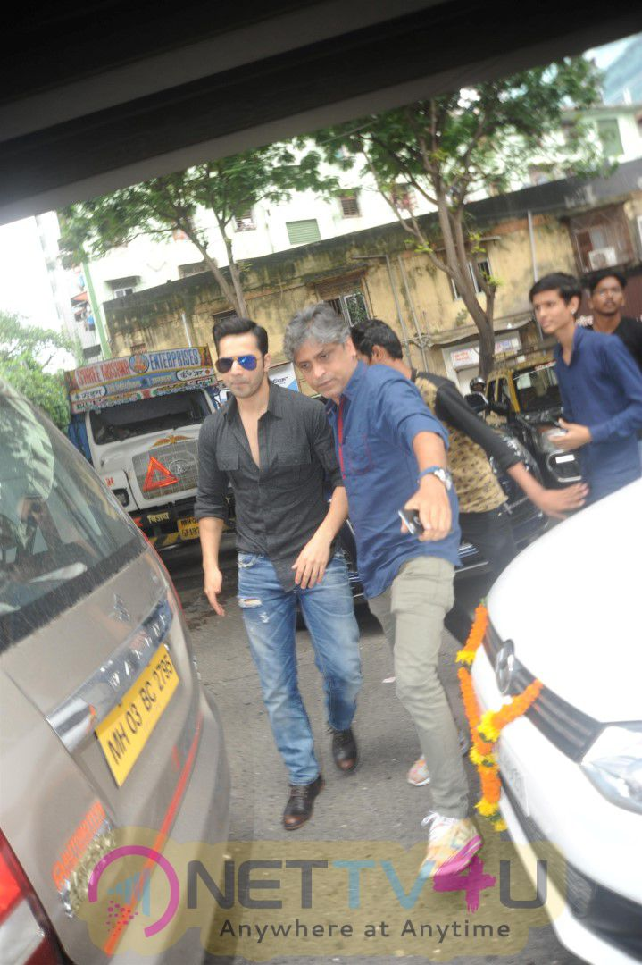 Bollywood Actors Varun Dhawan And John Abraham Visit The Radio Station For Promotion Of Their Upcoming Hindi Film Dishoom Dazzling Photos