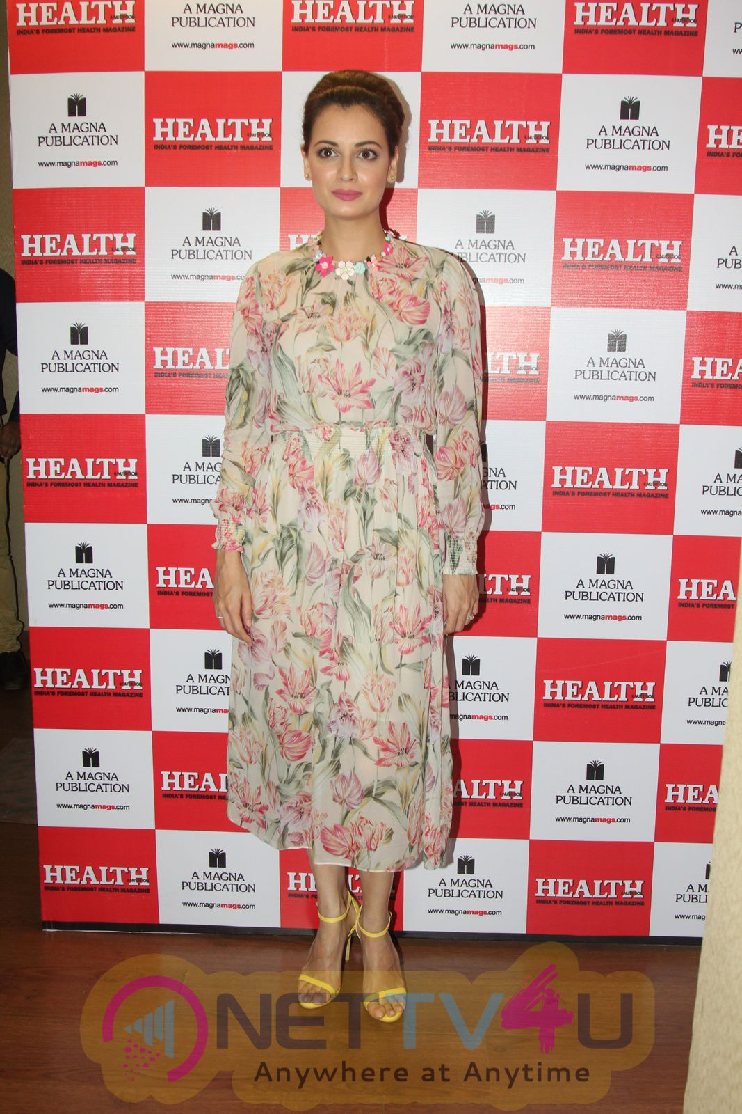 Bollywood Actress Dia Mirza Unveils The Cover Of Health And Nutrition Magazine Stills