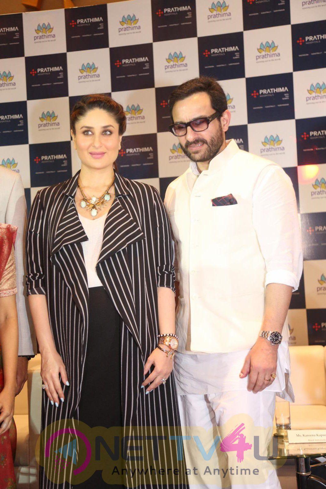 Bollywood Couple Saif Ali Khan And Kareena Kapoor Visited Prathima Hospital Photos