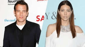 Clive Owen And Jessica Biel Sign For The Upcomi..